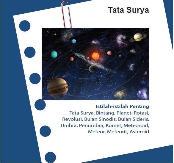 Rangkuman IPA Kelas 7 Bab 12 Tata Surya
