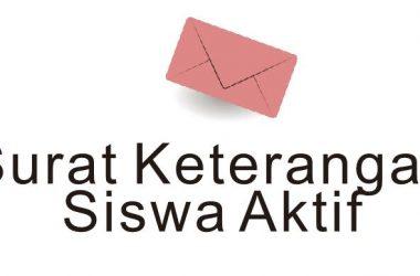 Contoh Surat Keterangan Siswa Aktif
