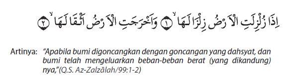 az-zalzalah ayat 1-2
