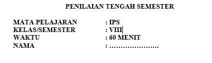 Latihan Soal PTS IPS Kelas 8 Semester 1