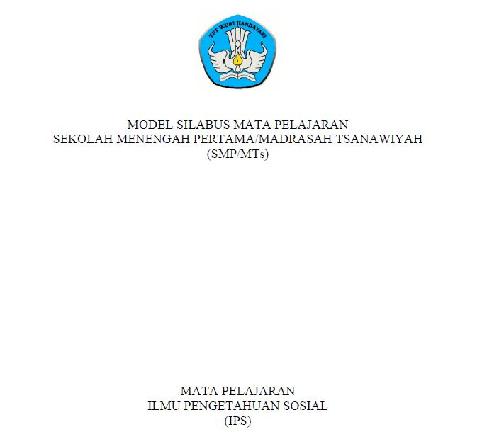 Silabus SMP kurikulum 2013 revisi 2017
