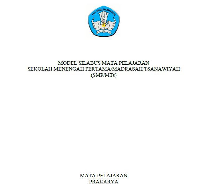 Silabus Prakarya SMP Kurikulum 2013 Revisi 2017