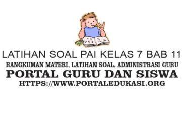 Latihan Soal PAI Kelas 7 Bab 11