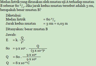 Contoh Soal Medan Listrik
