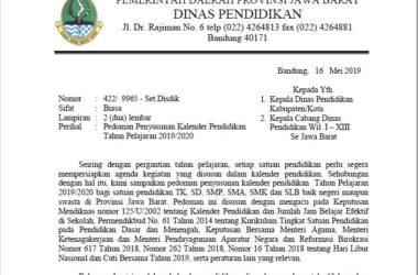 Kalender Akademik Tahun Ajaran 2019/2020 Jawa Barat