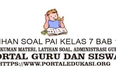 Latihan Soal PAI Kelas 7 Bab 12