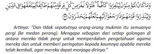 at-taubah ayat 122 beserta artinya
