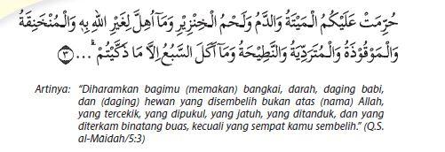 Surat Al-Maidah ayat 3 beserta artinya