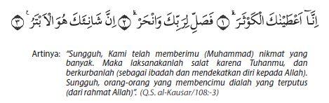 Q.S Al-kausar ayat 1-3 beserta artinya