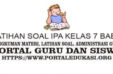 Latihan Soal IPA kelas 7 Bab 4