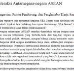 Interaksi Antarnegara negara ASEAN
