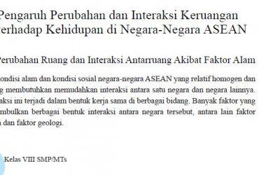 Pengaruh Perubahan dan Interaksi Keruangan Negara ASEAN