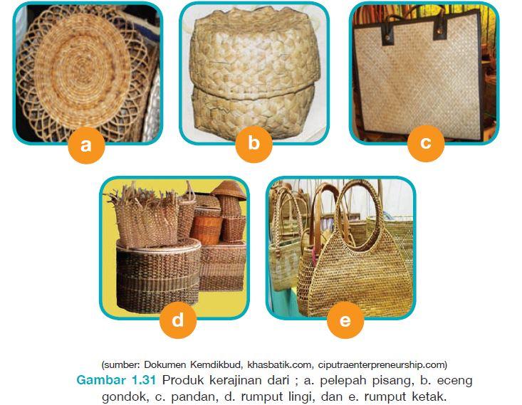 produk kerajinan dari serat tumbuhan