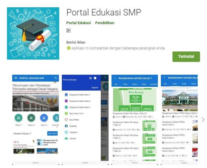 Rilis Aplikasi Android Portal Edukasi SMP