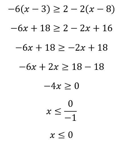 contoh soal pertidaksamaan linear satu variabel 2