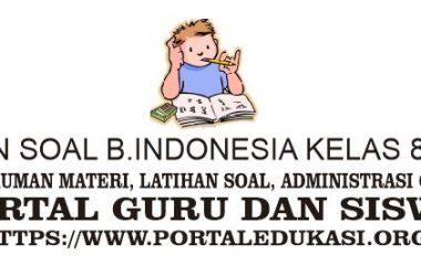 latihan soal indonesia kelas 8 bab 3