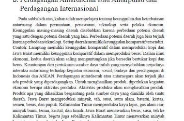 Perdagangan Antardaerah, Antarpulau, Perdagangan Internasional