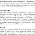 Perkembangan Ekonomi dan Kehidupan Masyarakat Indonesia pada Masa Kemerdekaan