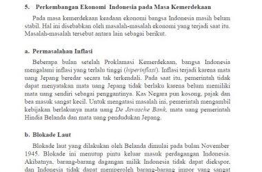 perkembangan ekonomi dan kondisi masyarakat indonesia pada masa kemerdekaan