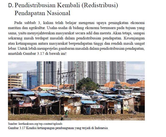 redistribusi pendapatan nasional