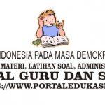 Latihan Soal Indonesia pada Masa Demokrasi Terpimpin