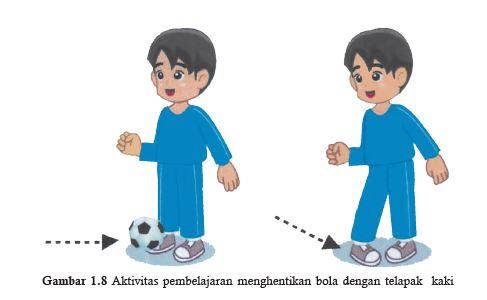 menghentikan bola dengan kura kura kaki