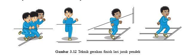teknik gerakan memasuki garis finish lari jarak pendek