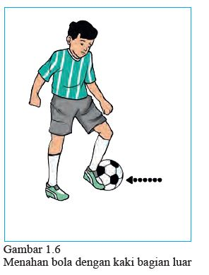 menahan bola dengan kaki bagian luar