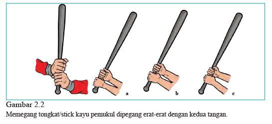 cara memegang stick softball