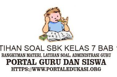 LATIHAN SOAL SBK KELAS 7 BAB 12